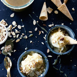 No-Churn Chai Ice Cream with Dulce de Leche