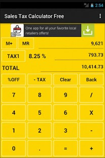 Sales Tax Calculator Free- screenshot thumbnail