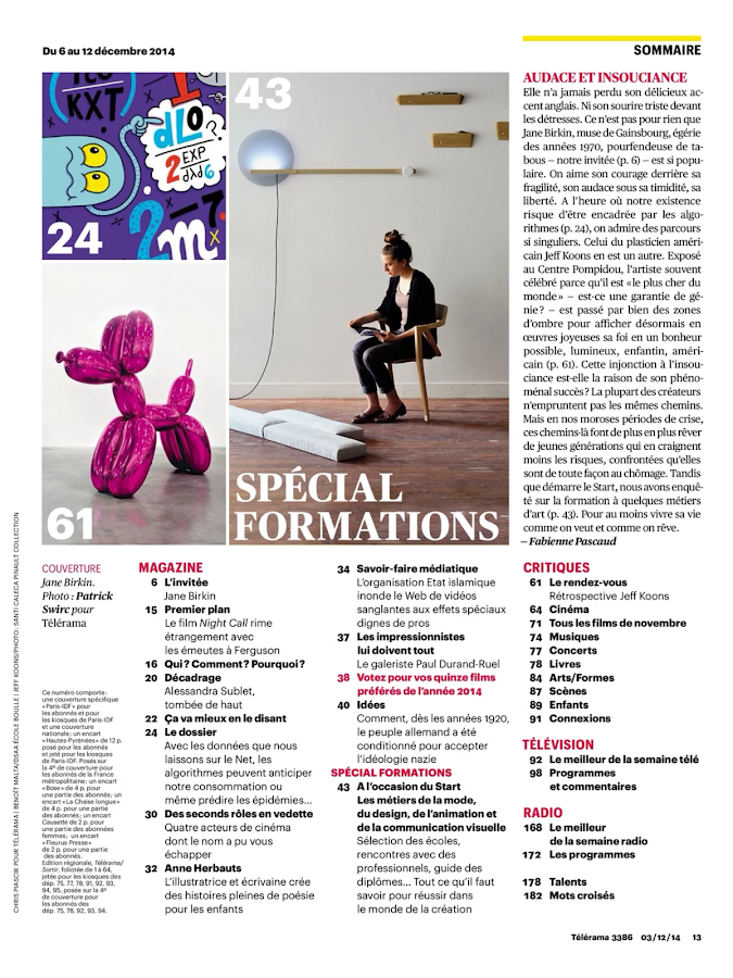 Télérama Magazine- screenshot
