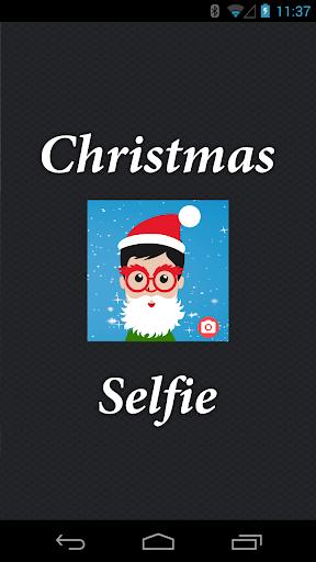 Funny Selfie. Christmas Photos