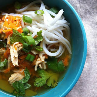 Spicy Asian Chicken and Noodle Soup.