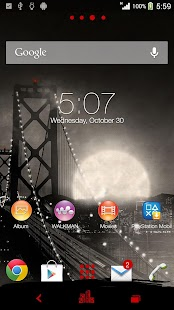 XPERIA™ Noir Theme Screenshot