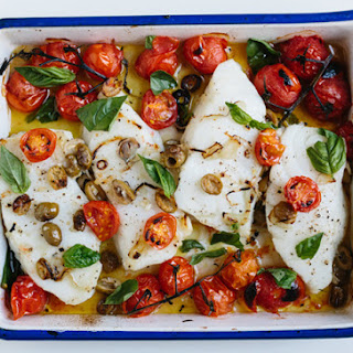 Sea Bass with Cherry Tomatoes
