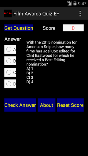 Film Awards Quiz E+
