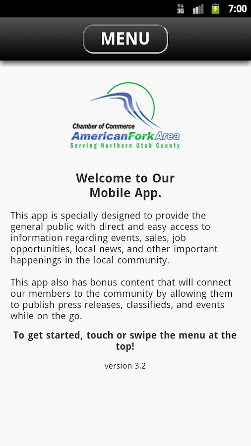 American Fork Area Chamber- screenshot