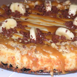 Banana Cheesecake with Caramel Sauce