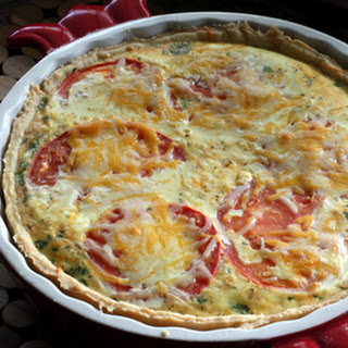 Spicy Sausage and Cheddar Quiche