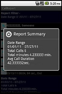 Call Report- screenshot thumbnail