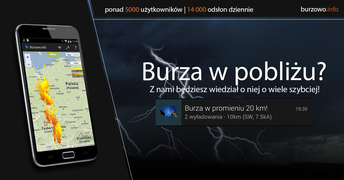 Burzowo.info (lightning map)- screenshot
