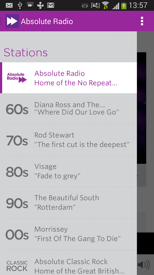Absolute Radio - screenshot