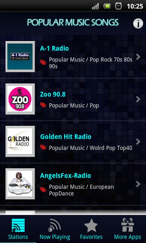Popular Music Songs - screenshot