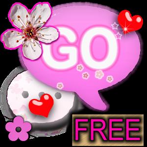 GO SMS THEME Cherry Blossom