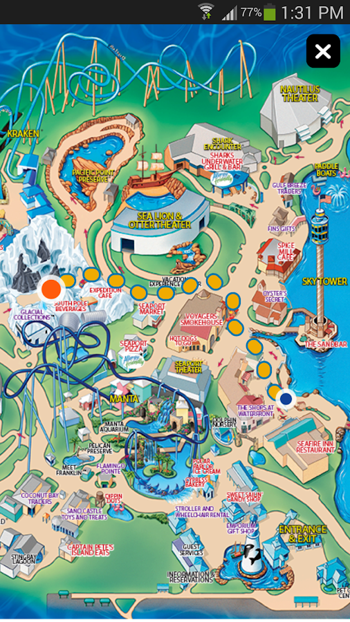 SeaWorld Discovery Guide- screenshot