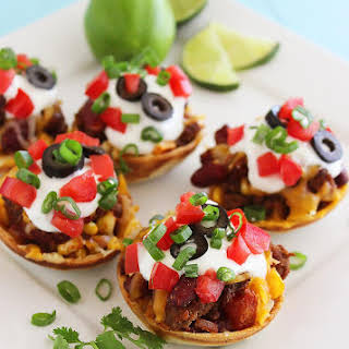 Mini Mexican Chili Tortilla Cups.