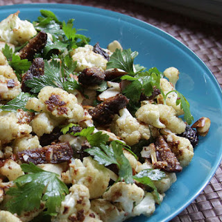 Spiced Cauliflower, Pickled Fig, and Almond Salad.