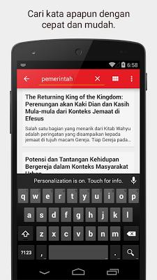 Artikel dan Renungan Kristen - screenshot