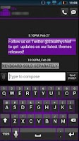 Screenshot of GO SMS Clean Purple Theme