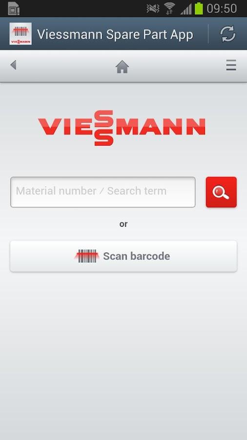 Viessmann Spare Part App - screenshot