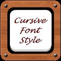 Cursive Font Style icon