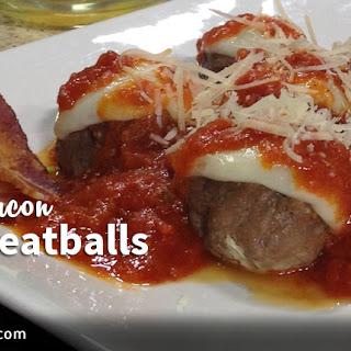 Bacon Meatballs with Marinara Sauce