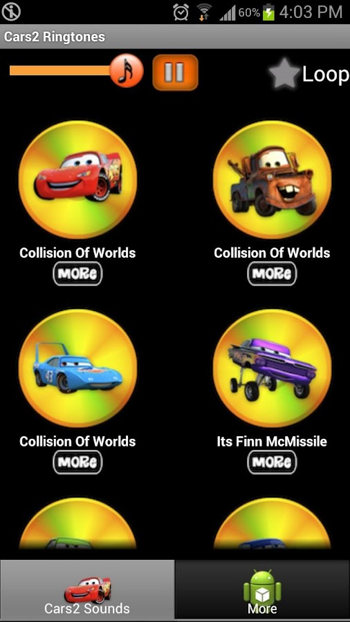 Cars2 Ringtones - screenshot