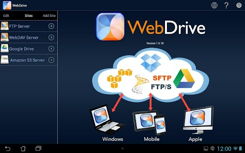 WebDrive, File Transfer Client- screenshot thumbnail