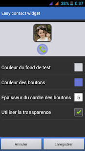 Easy Contact Widget Capture d'écran