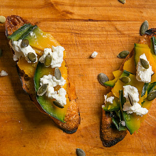 Kabocha Squash Toasts with Miso Jam Recipe
