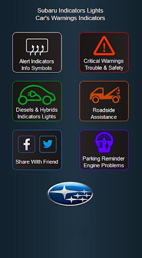 Subaru Cars Indicators Lights