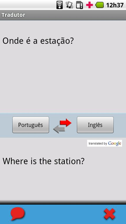 Portuguese (Brazil) - English - screenshot