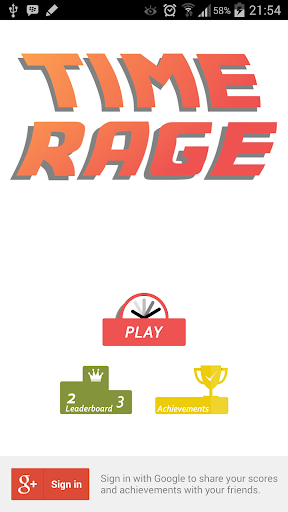 Time Rage - Beat the time.