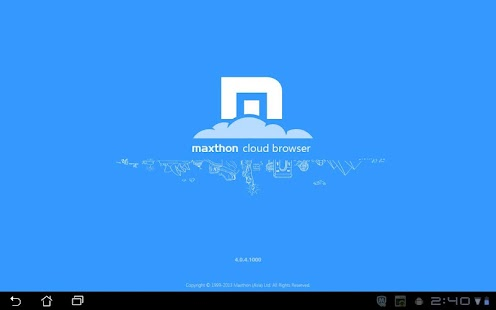 Maxthon Browser for Tablet Screenshot