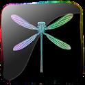 3D Dragon Fly logo