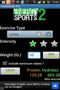 Sports Protein Calculator Pro - screenshot thumbnail