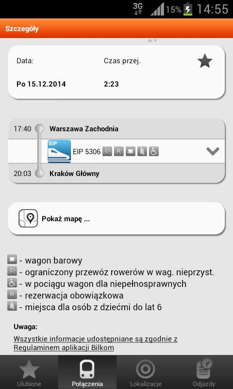 Bilkom - Train Timetable- screenshot