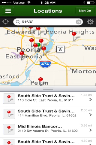 South Side Bank Mobile - screenshot