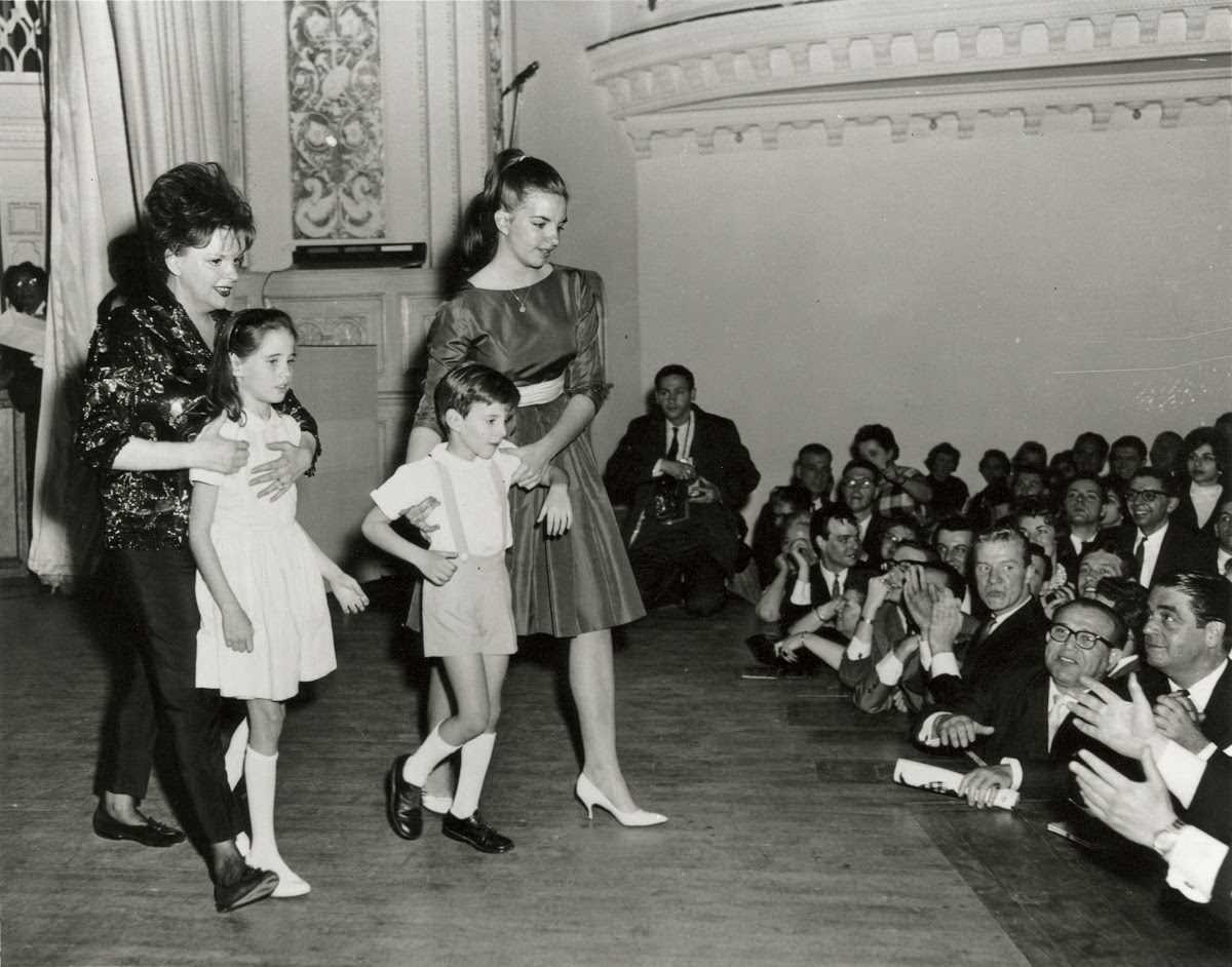 Judy Garland with her children Lorna and Joey Luft and Liza