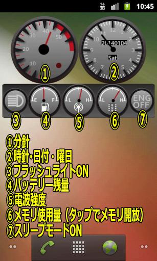 Tachometer Clock -タコメータークロック-