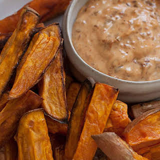 Sweet Potato Fries with Chipotle Mayonnaise.