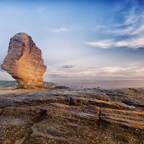 Stone Alone . . . by Putu Ekak - Landscapes Beaches