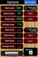 Screenshot of Winmau Darts Scorer
