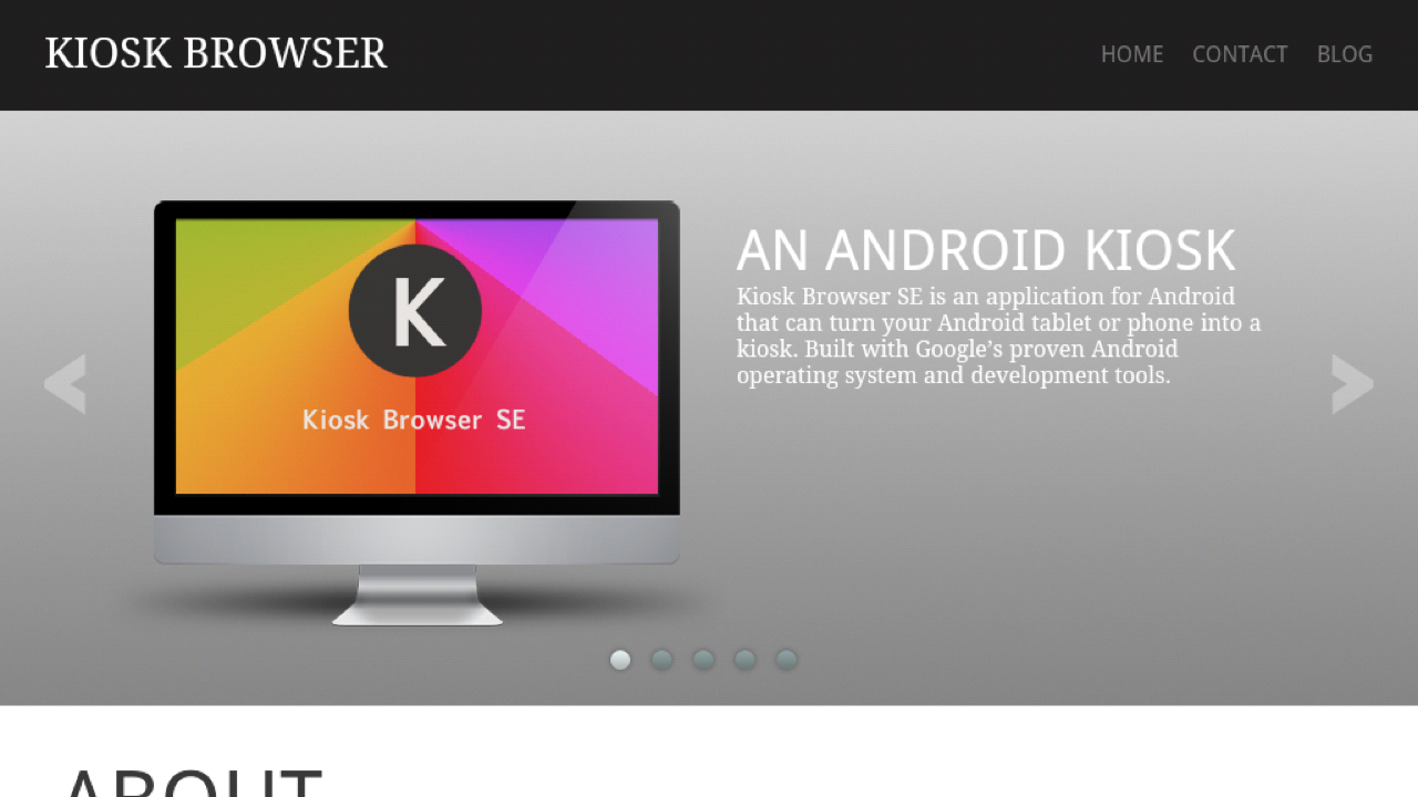 Kiosk Browser SE- screenshot