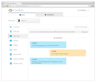G Cloud Backup Screenshot 1