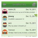 DroidSMS Theme Green icon