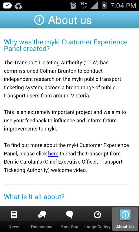 myki Panel - screenshot