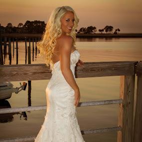 Destin Bride by Shelley Patterson - Wedding Bride ( water, fashion, sunset, wedding, bride )