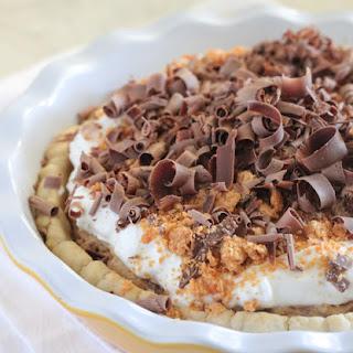Peanut Butter Butterfinger Cream Cheese Pie.