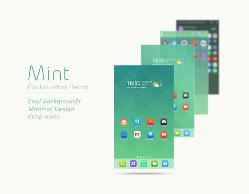 Mint Go Launcher Theme