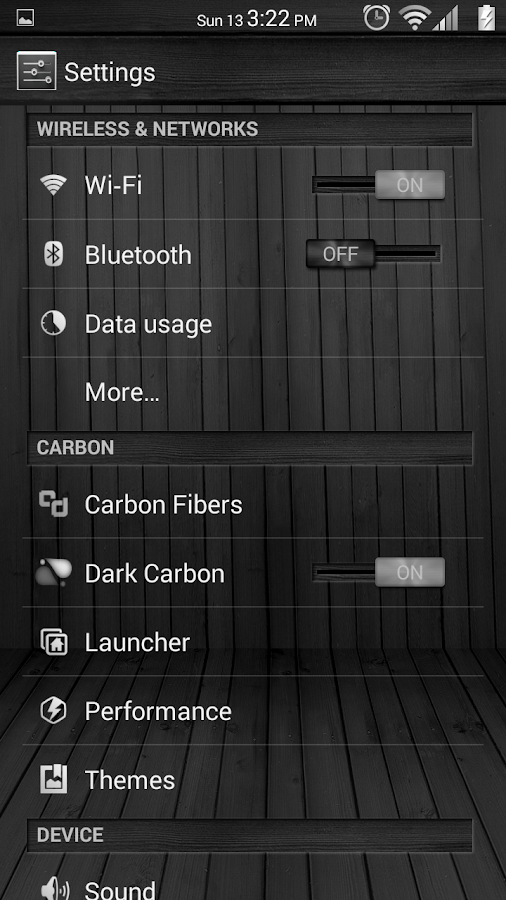 Black Wood White CM11 Theme - screenshot