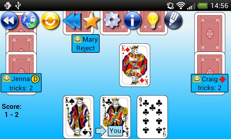 G4A: Euchre- screenshot